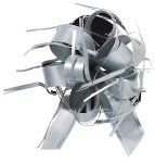 Zieh-Schleife Svelto Rotolo Country Bows, silber, AC3008